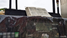 Bible on a gas station
