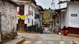 Small Town Santiago De Chuco Peru
