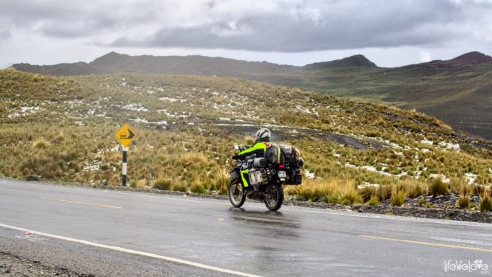 Motorcycle roads in Peru