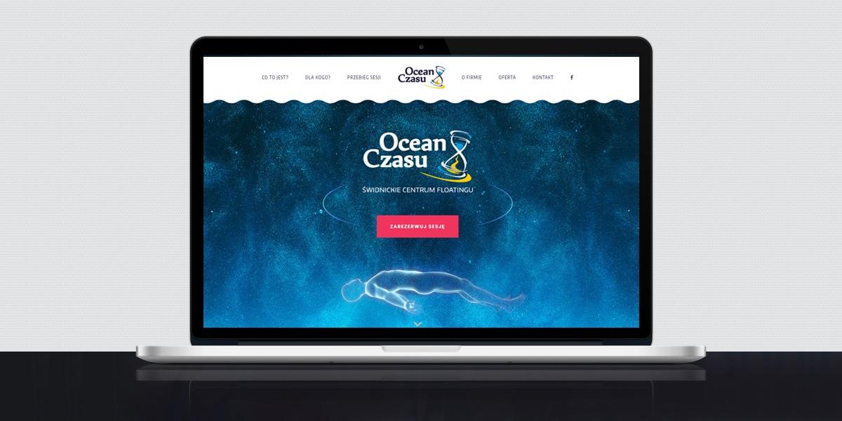 Floating Website Screen