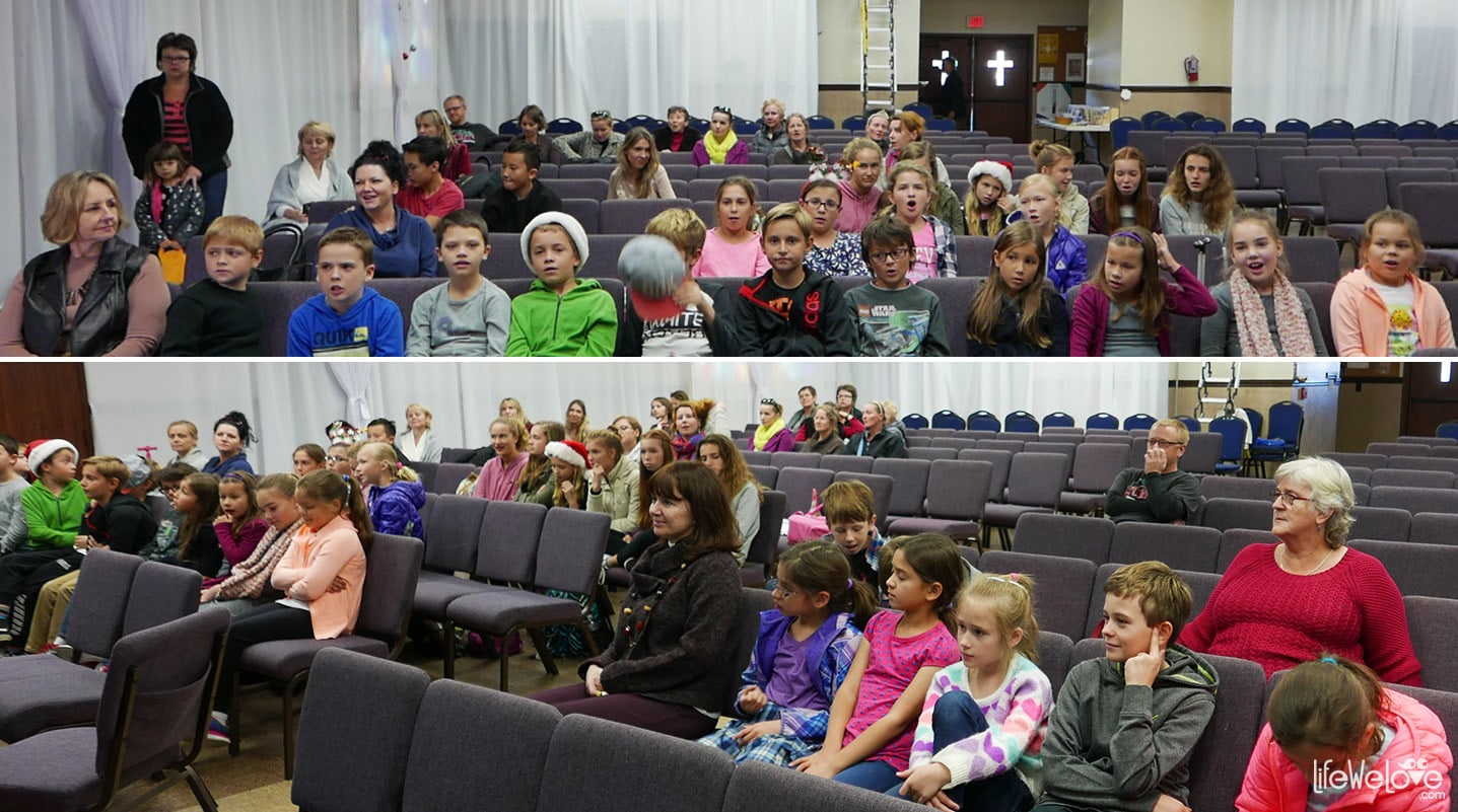 The audience in Polish School