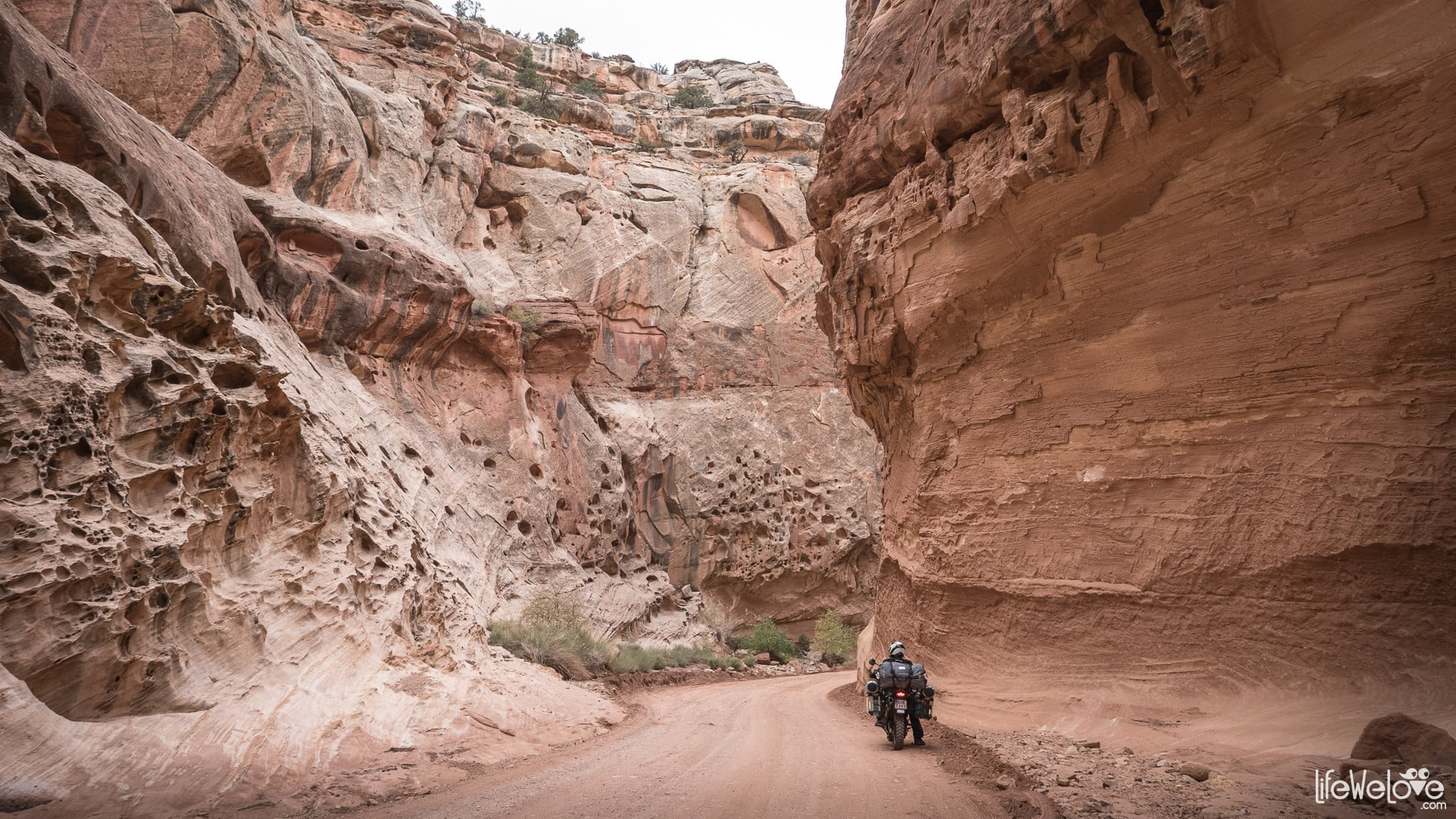 Capitol Reef National Park On A Motorcycle