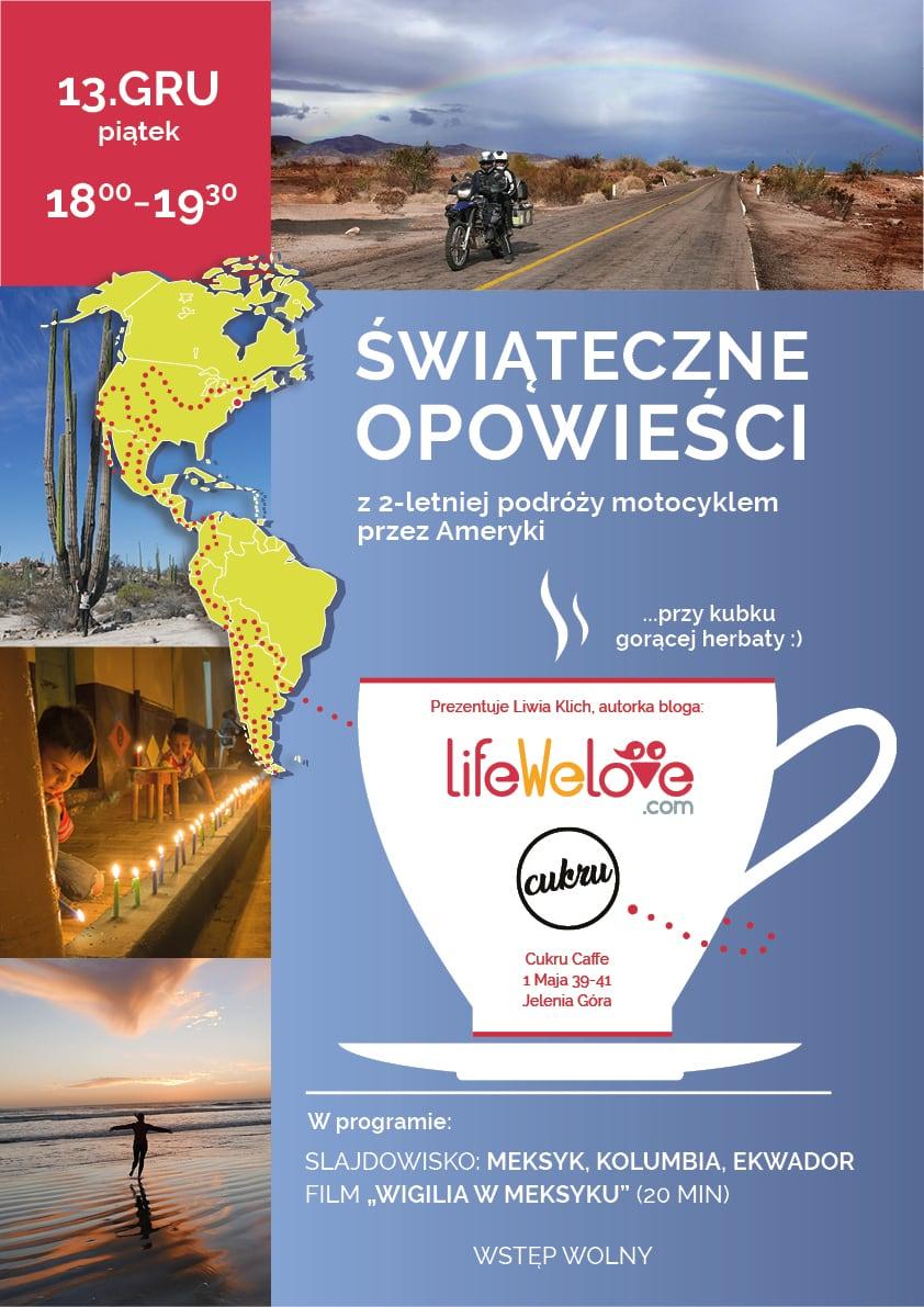 Slajdowisko podróżnicze w Jeleniej Górze - Cukru Caffe