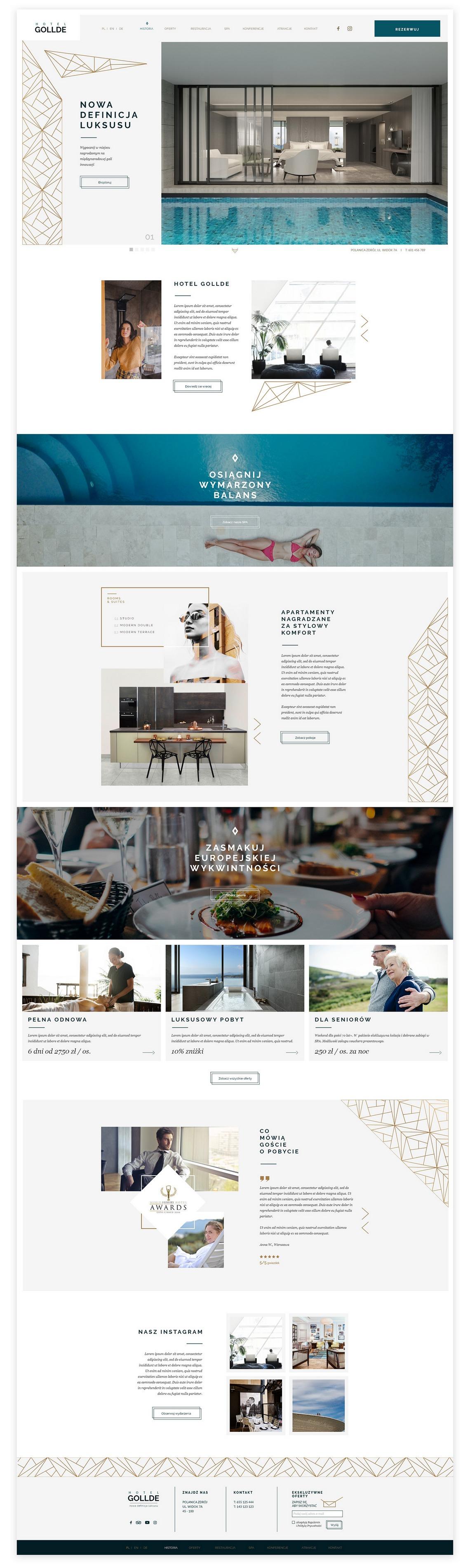 Hotel Gollde Elegant Template WordPress