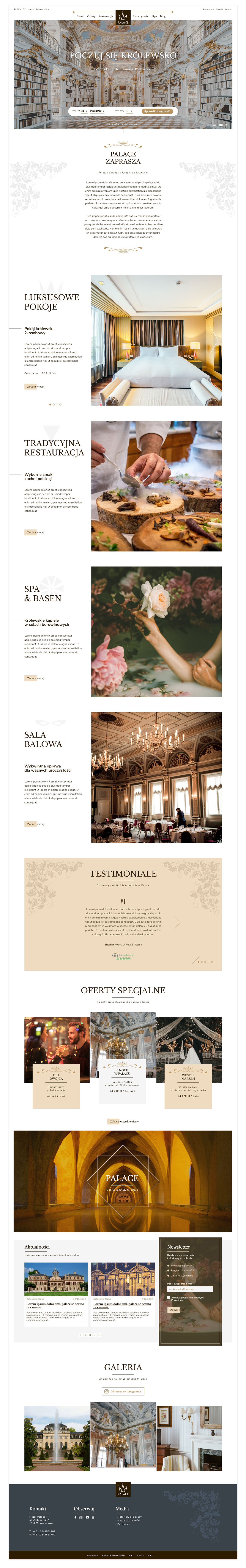 Palace Website Template WordPress
